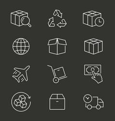 logistics line icon editable stroke vector image
