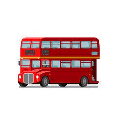 London double-decker red bus england symbol vector
