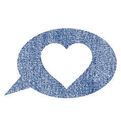 Love message balloon fabric textured icon vector