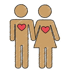 Lovers couple isolated icon vector
