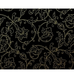 Luxury Golden Seamless Wallpaper Pattern vector image