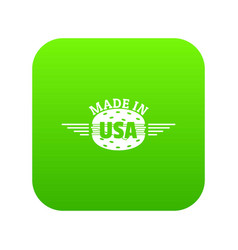 made in usa icon green vector image