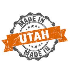 made in utah round seal vector image