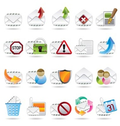 Mail and letter icons vector