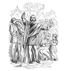 medieval preacher vintage vector image