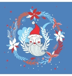 Merry Christmas Happy New Year Santa Claus vector