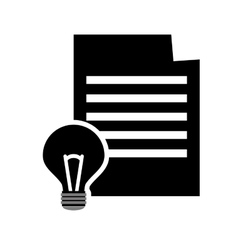 Paper document and lightbulb icon vector