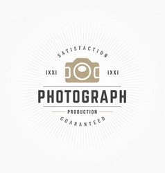 photographer design element in vintage style for vector image