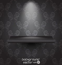 Presentacion shelf black vector