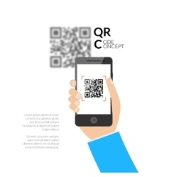QR code scanning with mobile phone Capture QR vector