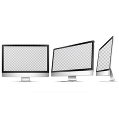 realistic detailed 3d computer display set vector image