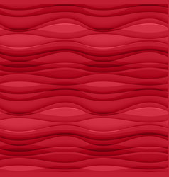 Red seamless wavy background texture vector