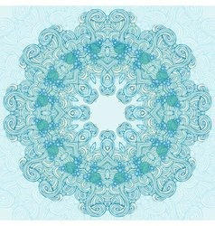 Round turquoise abstract design vector image