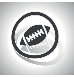 Rugby sign sticker curved vector