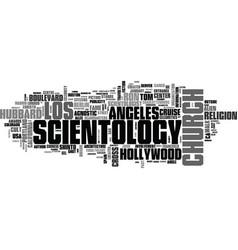 Scientology word cloud concept vector