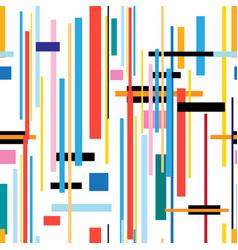 seamless beautiful color geometric pattern vector image