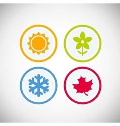seasons icons vector image