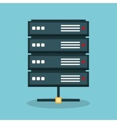Server data center icon vector