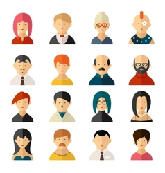 Set user interface avatar icons vector