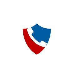 Shield call logo icon design vector