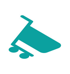 shopping cart isometric icon online app vector image