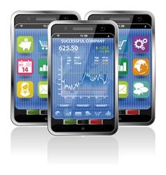 Smart phones stock exchange vector