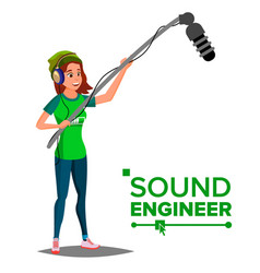 Sound engineer man professional vector