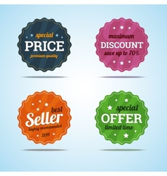 Special set of premium sale badges in flat style vector
