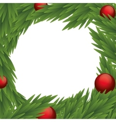 Sphere and pine tree icon Merry Christmas design vector image