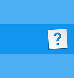 Sticker reminders with question mark isolated vector