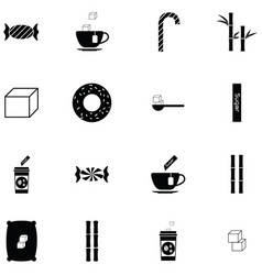 sugar icon set vector image