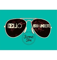Summer typographic retro poster design vector