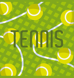 tennis balls equipment vector image