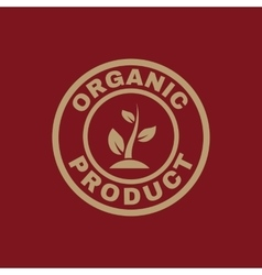 The organic product icon Eco and bio ecology vector image