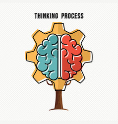 thinking process concept for new business ideas vector image