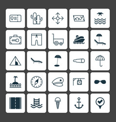Tourism icons set collection of direction arrows vector
