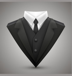 Triangle jacket and tie vector