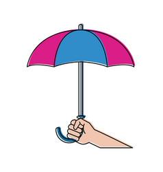 umbrella weather symbol vector image