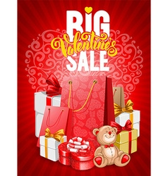 Valentines day sale vector