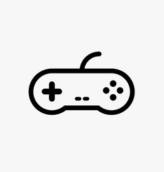 Video game control joystick flat icon videogame vector