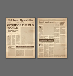Vintage newspaper news articles newsprint vector