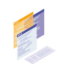 Webpage templates isolated icons vector