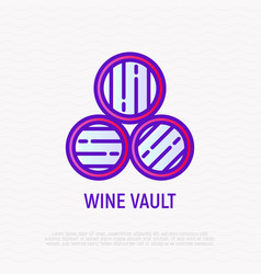 wine vault thin line icon vector image