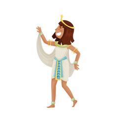 Woman in costume egyptian pharaoh vector