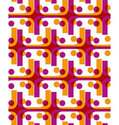 Bright dotted seamless pattern with red and yellow vector image vector image