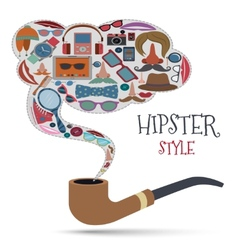 Hipster style concept vector image vector image