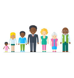 mixed black family vector image