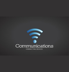 wifi communications logo vector image