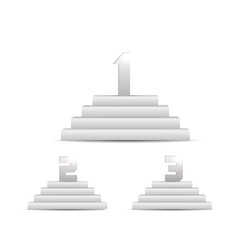 3d podiums set isolated on white vector image