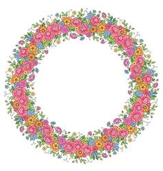 floral design wreath vector image vector image